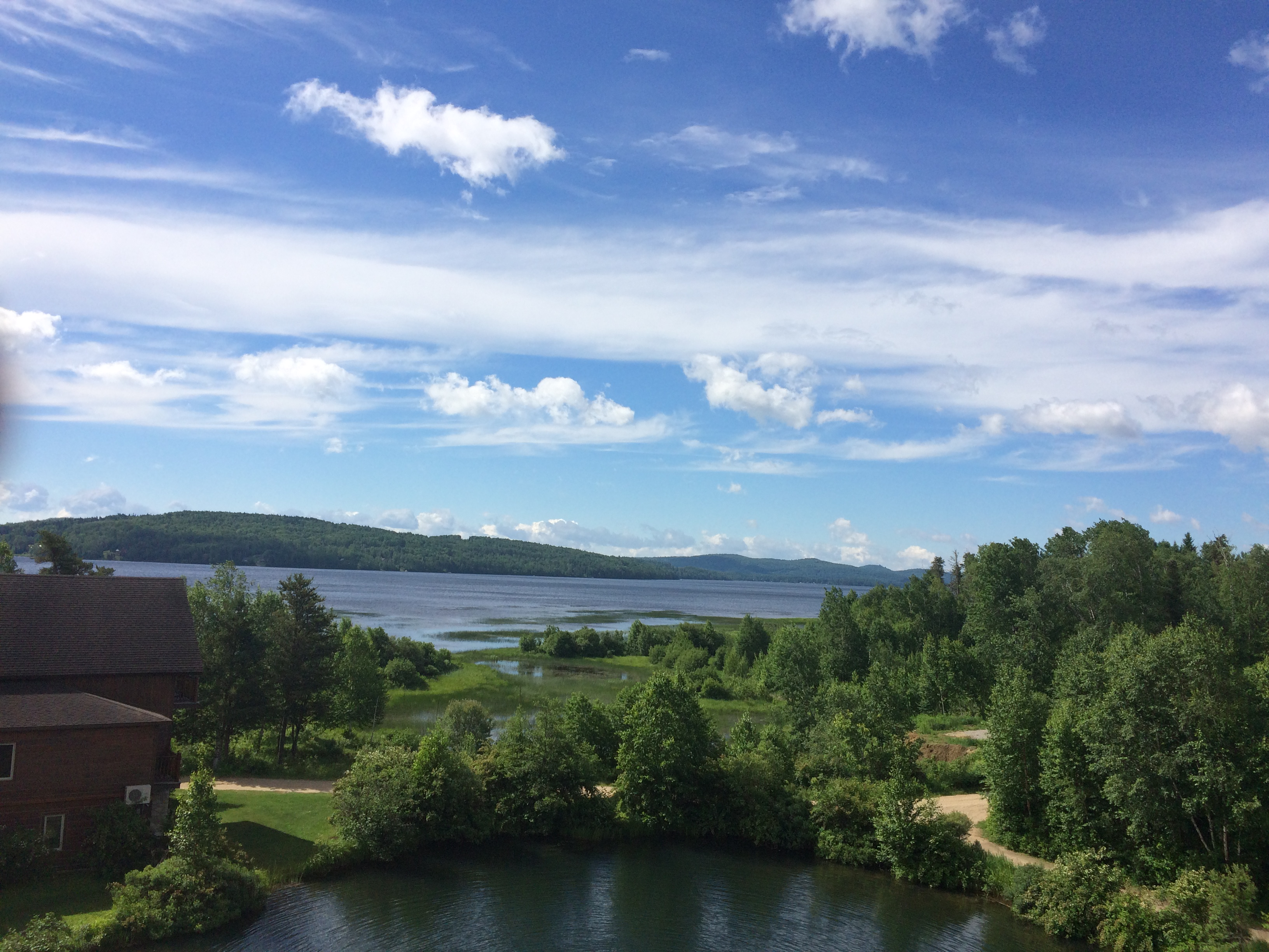 Vue Auberge du Lac Taureau