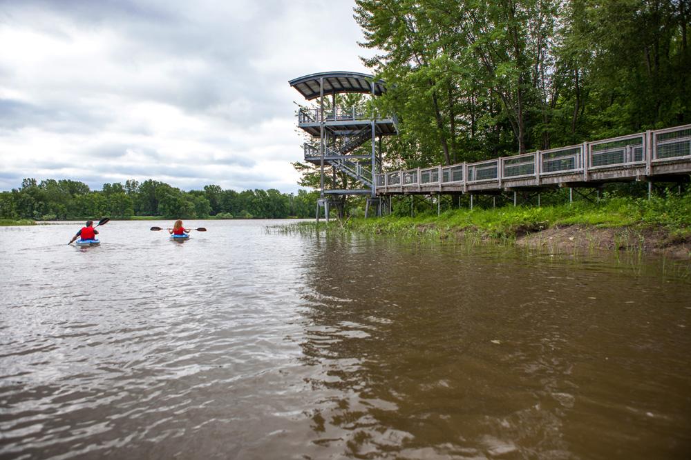 Kayak parc de la rivière à Terrebonne