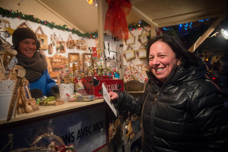 Commerçante du Marché de Noël de Terrebonne